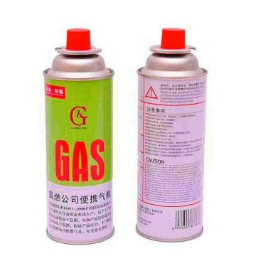 Butane gas canister in gas cylinder and portable gas cartrid for camp stove