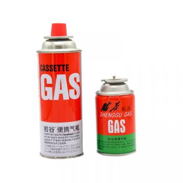 Industrial portable 220g slim tinplate Portable butane gas cartridge and butane gas can