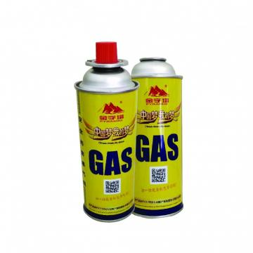 300ml / 250ml / 220ml 65ml high quality butane gas cylinder camping gas tank bottle lighter power