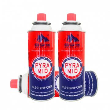 Butane Gas Aerosol Spray Round Shape Portable butane gas cartridge can for portable gas stove