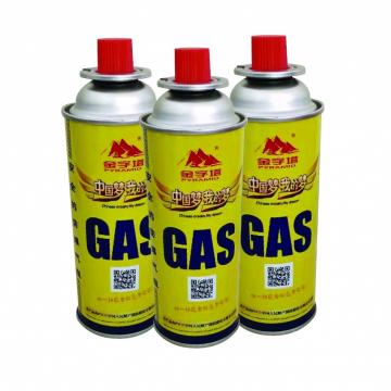 Round Shape Portable butane gas Hotsale low pressure gas canister filled with butane