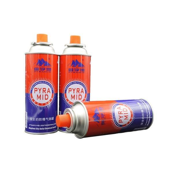 Empty Aerosol Butane Gas Can Metal Tin Can with Valve and Cap